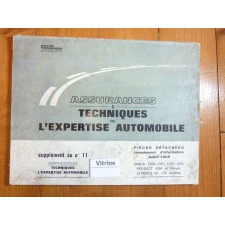 ID DS 404 1300 1500 Revue Auto Expertise Citroen