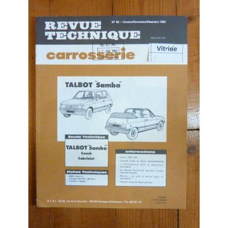 Samba Revue Technique Carrosserie Talbot Simca