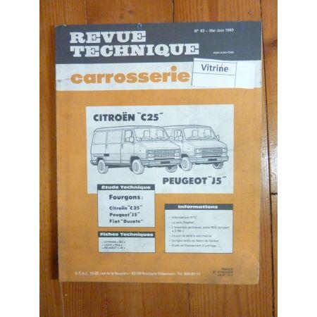 C25 J5 DUCATO Revue Technique Carrosserie Citroen Peugeot