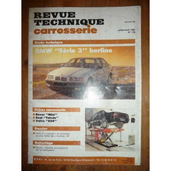 RTC0138C Revue technique Carrosserie BMW Série 3 Berline