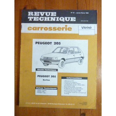 205 Berl Revue Technique Carrosserie Peugeot