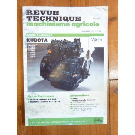 Séries D et V Revue Technique Agricole Kubota