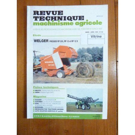 RP200 RP12 Revue Technique Agricole Welger