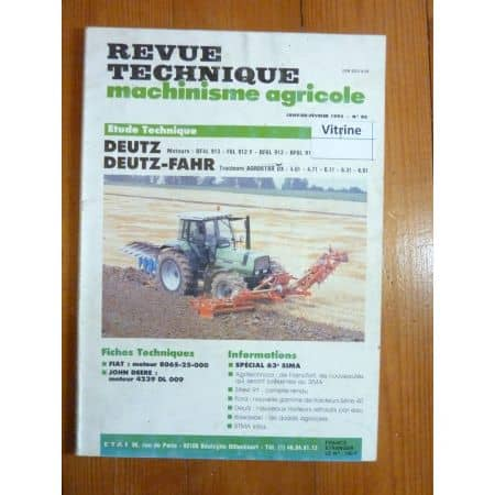 AGROSTAR DX Revue Technique Agricole Deutz Fahr