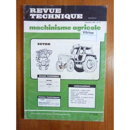 8111 8145 10111 10145 12145 Revue Technique Agricole Zetor