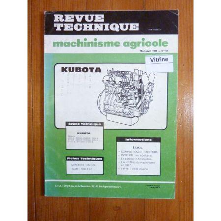 Z500 à V1200B Revue Technique Agricole Kubota
