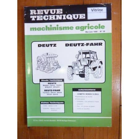 DX4 Revue Technique Agricole Deutz Fahr