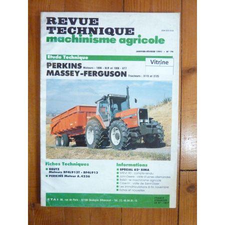3115 3125 Revue Technique Agricole Massey Ferguson