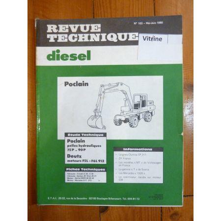 Pelles 75P 90P Revue Technique TP Deutz Poclain
