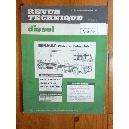 GR305 PX30 R310 Revue Technique PL Berliet Renault Saviem