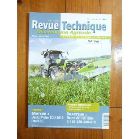 Agrotron K410 420 430 610 Revue Technique Agricole Deutz
