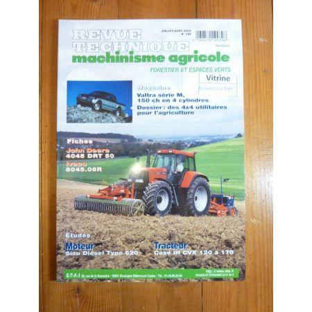 IH CVX 120 à 170 Revue Technique Agricole Case Axial
