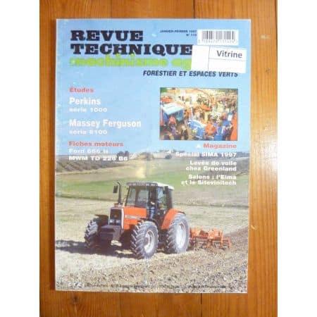 Série 6110 A 6180 Revue Technique Agricole Massey Ferguson et Perkins