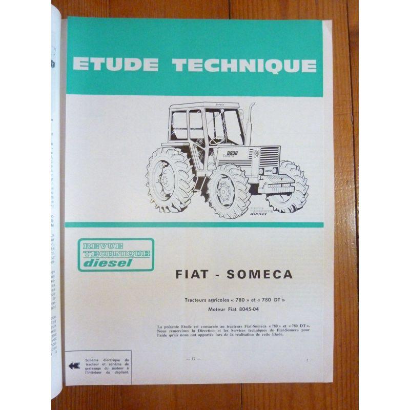 Revue Technique Tracteur Fiat Someca 780 Moteur 8045-04 2 Et 4 Roues Dt Manuels, Revues, Catalogues Agriculture