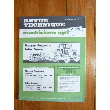 LF265 590 JD 332 466 Revue Technique Agricole John Deere
