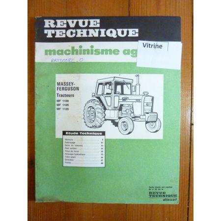 MF1100-1105-1135 Revue Technique Agricole Massey Ferguson