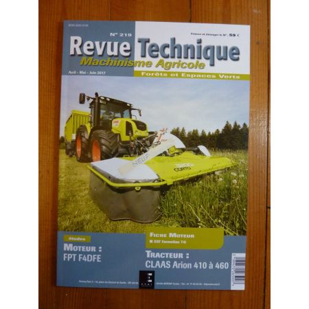 Arion F4DFE Revue Technique Agricole CLAAS
