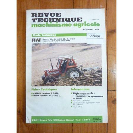 70-66 80-66 70-66 80-90 Revue Technique Agricole Fiat Someca