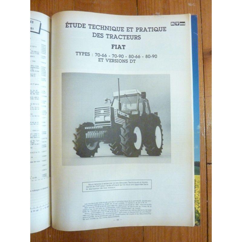 Revue Technique Tracteur Fiat Someca 780 Moteur 8045-04 Équipements Professionnels 2 Et 4 Roues Dt