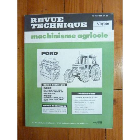 6710 à 8210 Revue Technique Agricole Ford