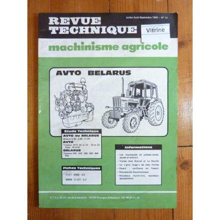 MTZ50 SUPER 550 à 820 Revue Technique Agricole Avto Belarus