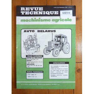 MTZ50 SUPER 550 a 820 Revue Technique Agricole Avto Belarus