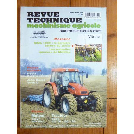 CS78 86 94 Revue Technique Agricole Case Axial