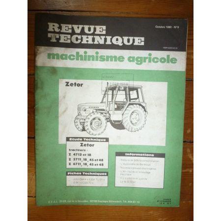 Z 4712 5711 6711 Revue Technique Agricole Zetor