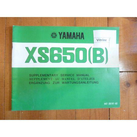 XS650 B Manuel YAMAHA