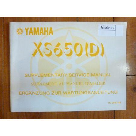 XS650 D Manuel YAMAHA