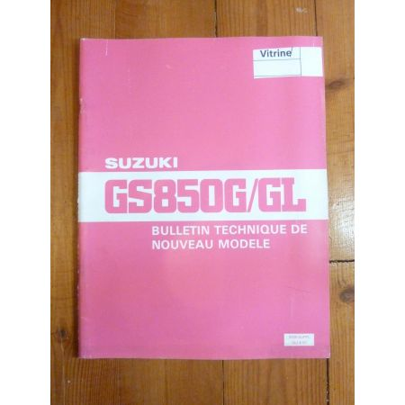 GS650 G-GL Bulletin tech SUZUKI