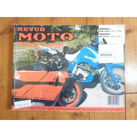 DR750/800 CBR600F Revue Technique moto Honda Suzuki