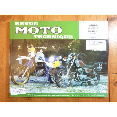 CM125 DR600 Revue Technique moto Honda Suzuki