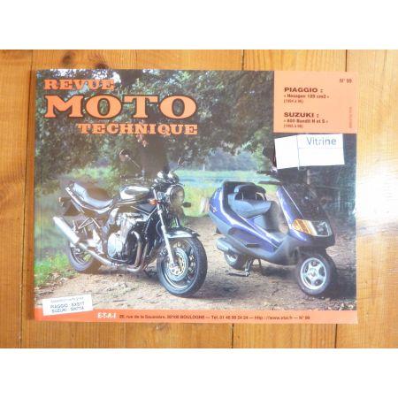 Hexagon 125 Bandit 600 Revue Technique moto Piaggio Suzuki