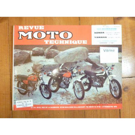 CB125 DT125 Revue Technique moto Honda Yamaha