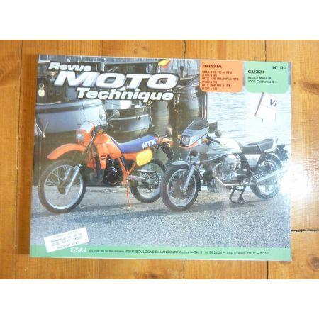 MBX125 MTX125 200 - Le Mans California 3 Revue Technique moto Honda Guzzi