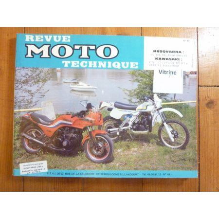 WR Z ZX GPZ Revue Technique moto Husqvarna Kawasaki
