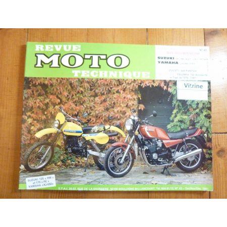 RM125 PE175 XJ650 Revue Technique moto Suzuki Yamaha