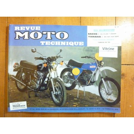 150 175 25 650 Twin Revue Technique moto Sachs Yamaha