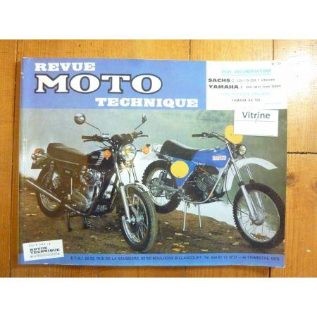150 175 25 650 Twin Revue Technique moto Sachs Yamaha