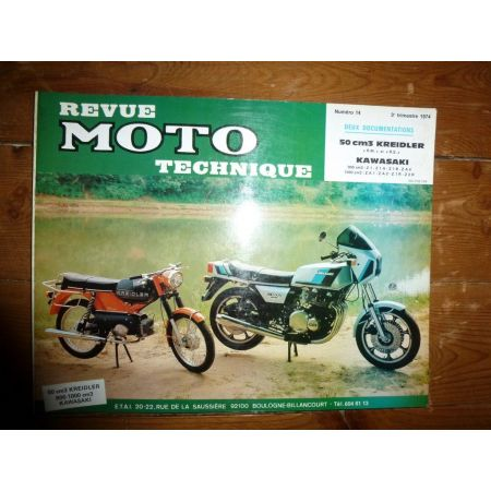 50 RM RS 900Z 1000Z Revue Technique moto Kawasaki Kreidler