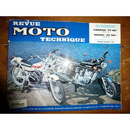 TY125 GT750 Revue Technique moto Suzuki Yamaha