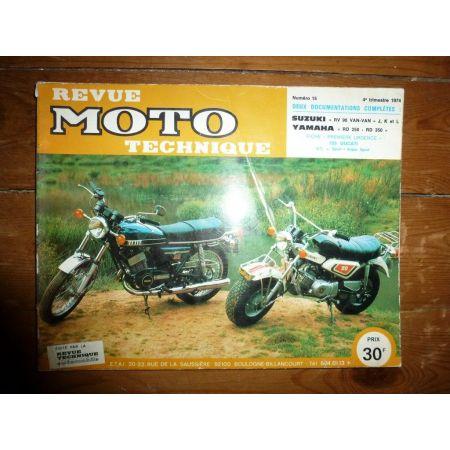RV90 VANVAN RD250 RD350 Revue Technique moto Suzuki Yamaha