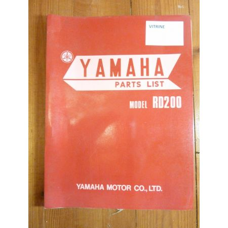 RD200 Catalogue Pieces YAMAHA Anglais