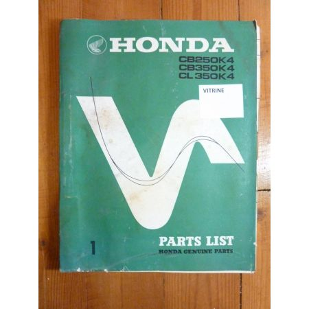 CB250-350 K4 Catalogue Pieces HONDA Anglais