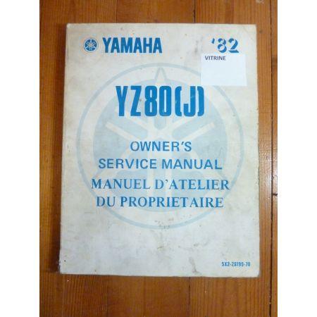 YZ 80 82 Manuel YAMAHA