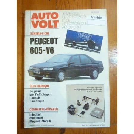 605 V6 Revue Technique Electronic Auto Volt Peugeot