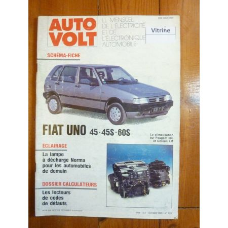 Uno 45 45S 60S Revue Technique Electronic Auto Volt Fiat