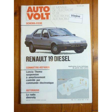 R19 Die Revue Technique Electronic Auto Volt Renault