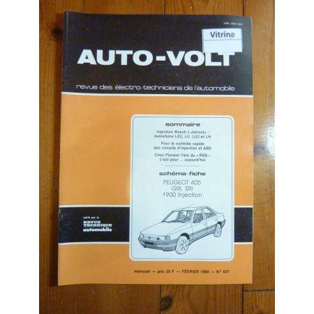 405 Inj Revue Technique Electronic Auto Volt Peugeot